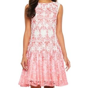 Danny and Nicole Sleeveless Lace and Flare Dress